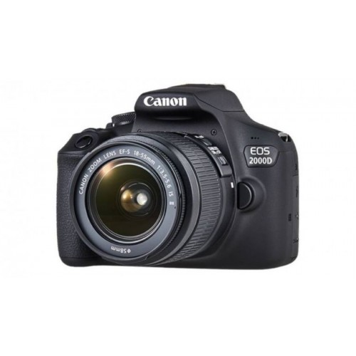 Canon EOS 2000D Camera with 18-55mm Lens (Rebel T7)