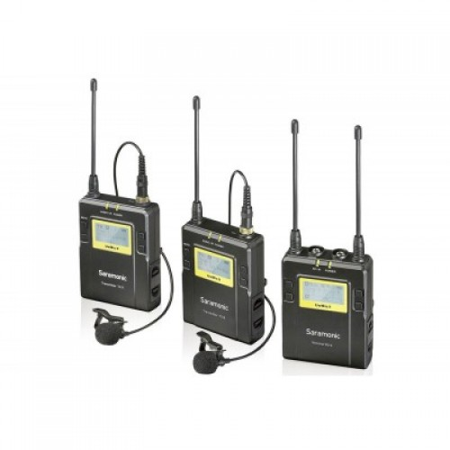 Saramonic UW Mic9- RX9+TX9+TX9 Wireless Lavalier Microphone
