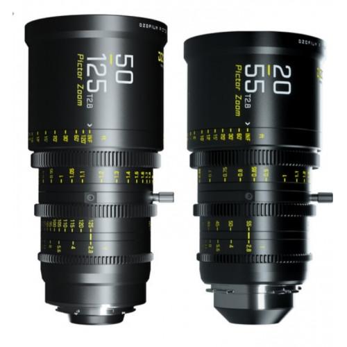 DZOFilm Pictor 20-55mm and 50-125mm T2. 8 Super35 Zoom Lens Bundle (PL Mount and EF Mount, Black)