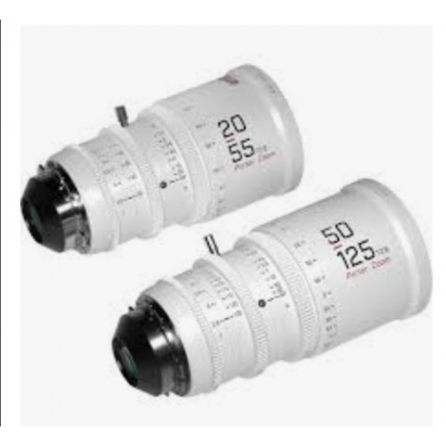 DZOFilm Pictor 20-55mm and 50-125mm T2. 8 Super35 Zoom Lens Bundle (PL Mount and EF Mount, White) )
