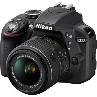 Nikon D3300 professional DSLR camera with 18-55mm lens
