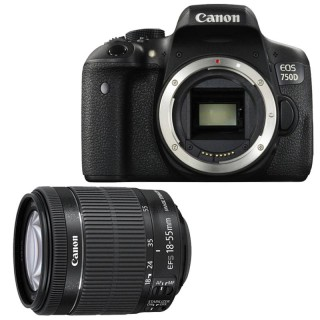 Canon EOS 750D Professional DSLR Camera with 18-55mm Lens